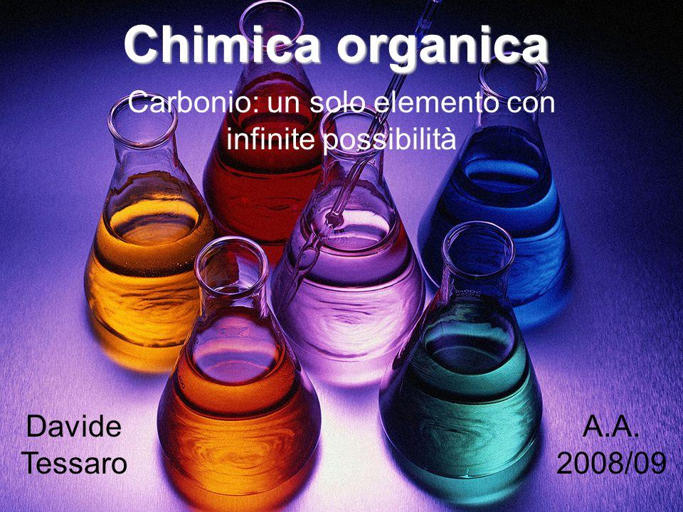 Chimica organica Carbonio: un solo elemento con infinite possibilità Davide Tessaro A.A. 2008/09