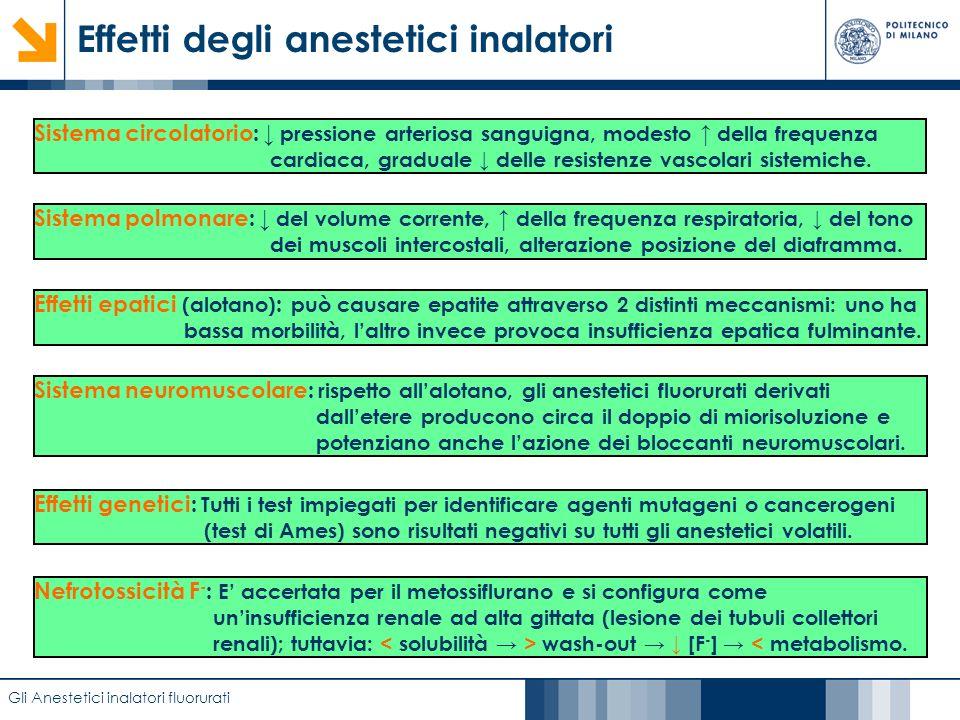 Caratterizzazione di film anodici di biossido di titanio mediante EIS Effetti degli anestetici inalatori Gli Anestetici inalatori fluorurati Sistema c