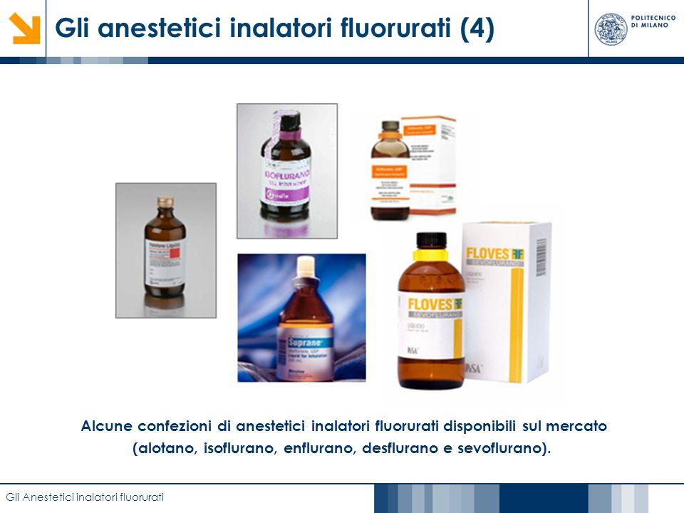 Caratterizzazione di film anodici di biossido di titanio mediante EIS Gli anestetici inalatori fluorurati (4) Gli Anestetici inalatori fluorurati Alcu