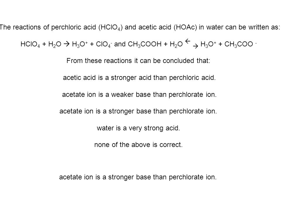 Consider the following data for the series of hydrogen halide Broensted acids, Acid Ka: HF 7.2 x 10 -4 ; HCl 1 x 10 6 ; HBr 1 x 10 9 ; HI 3 x 10 9 Which of these Bronsted acids would have the weakest conjugate base.