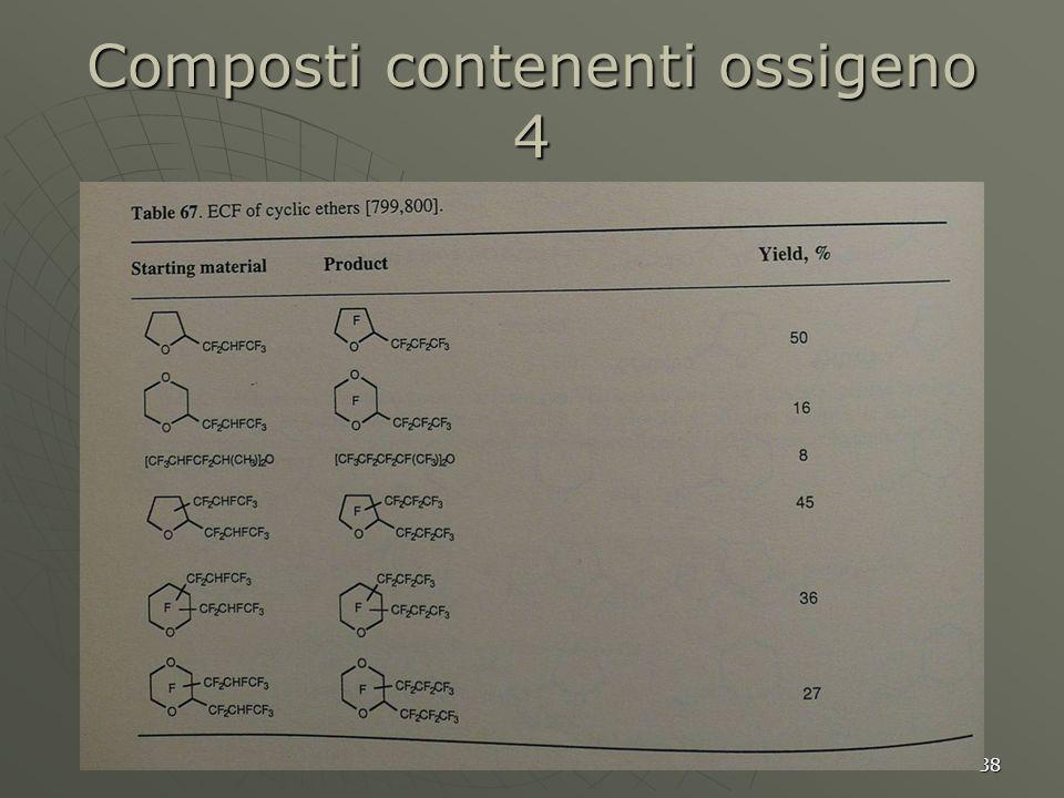 38 Composti contenenti ossigeno 4