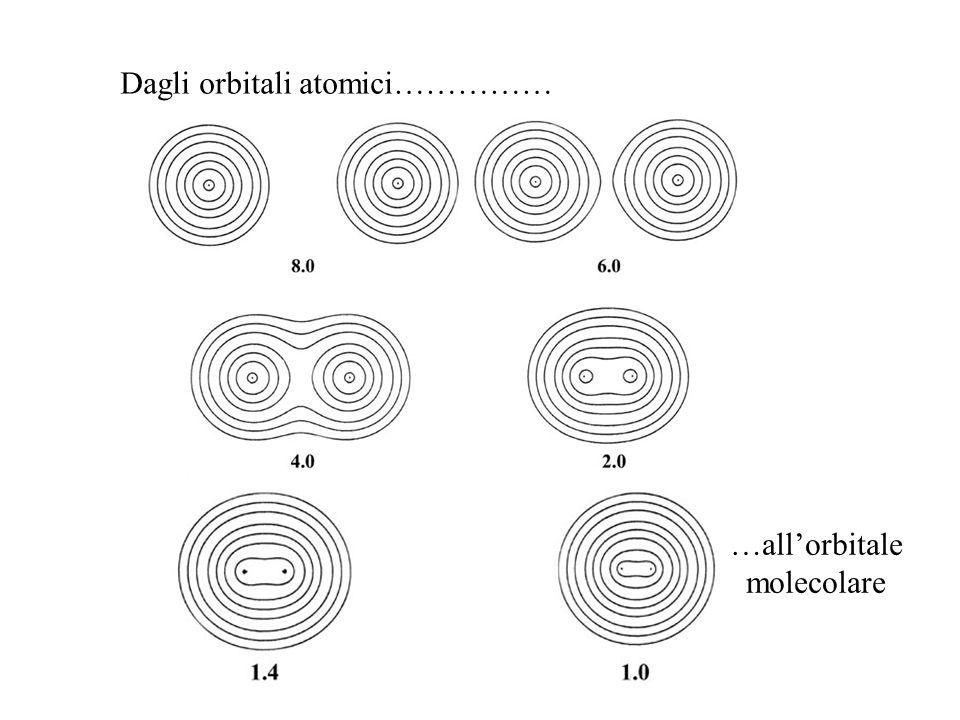 Dagli orbitali atomici…………… …allorbitale molecolare