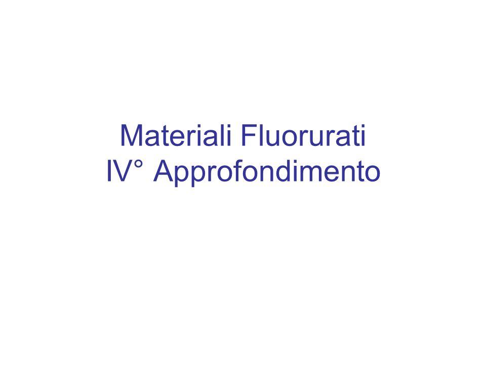 Materiali Fluorurati IV° Approfondimento