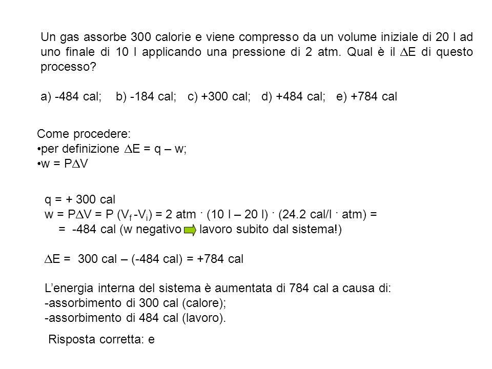 Se il H per la sublimazione di una mole di iodio è 14.88 kcal a 25°C e 1 atm, qual è Il E di questo processo.