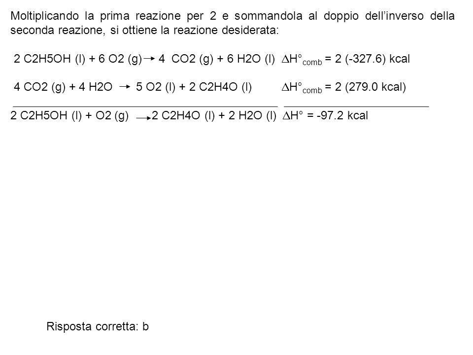 Il S° ( in eu=cal/K) per la reazione (da bilanciare) SO 2 (g) + O 2 SO 3 a 25°C è: a) -44.92 eu; b) -46.96 eu; c) +14.37 eu; d) +4.08 eu; e) -57.26 eu Come procedere: Bilanciare la reazione; Applicare il concetto di funzione di stato.