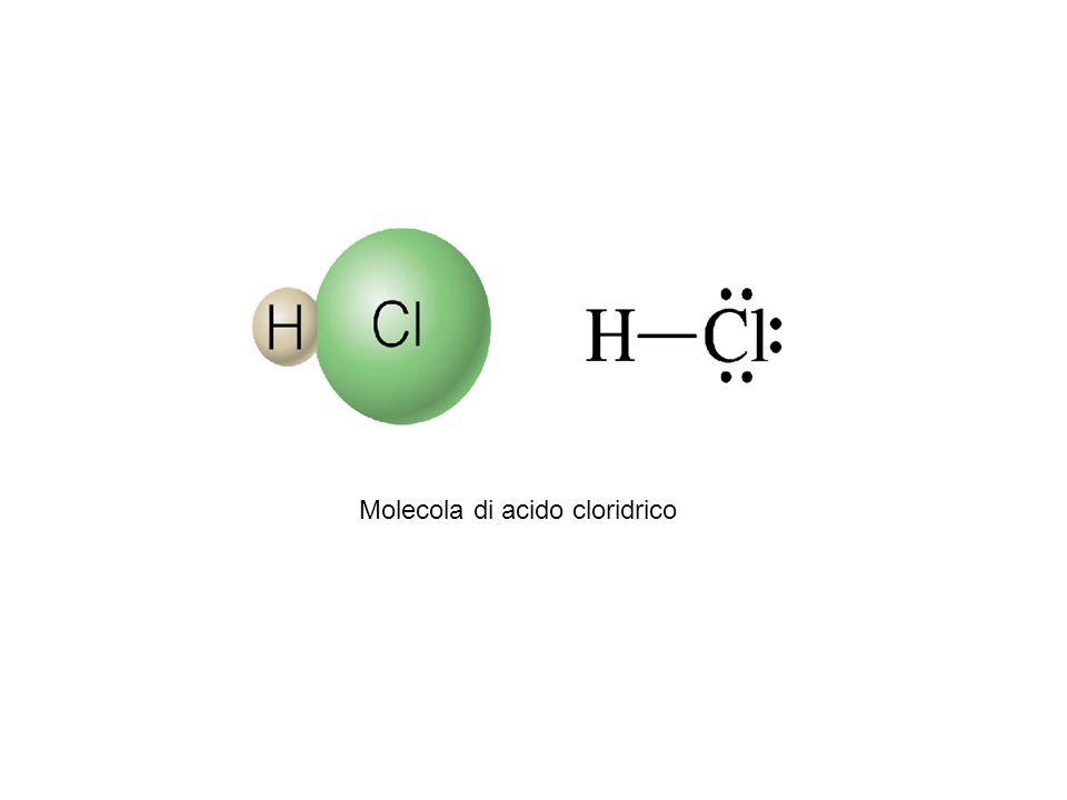 Molecola di acido cloridrico