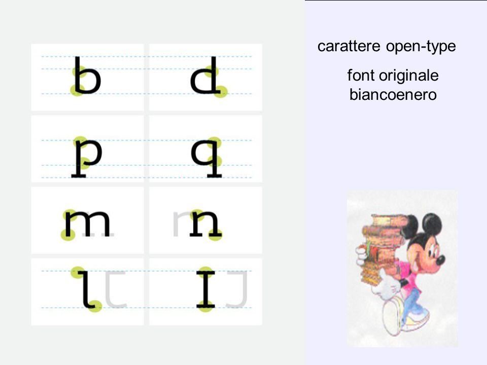 carattere open-type font originale biancoenero