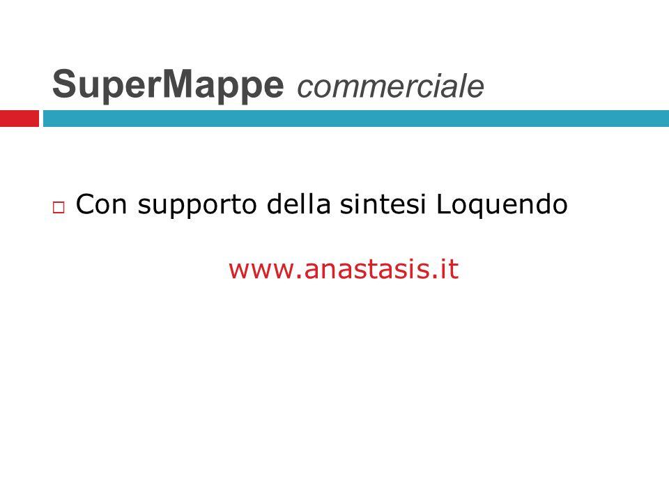 SuperMappe commerciale Con supporto della sintesi Loquendo www.anastasis.it