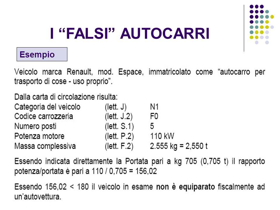 14 I FALSI AUTOCARRI Esempio