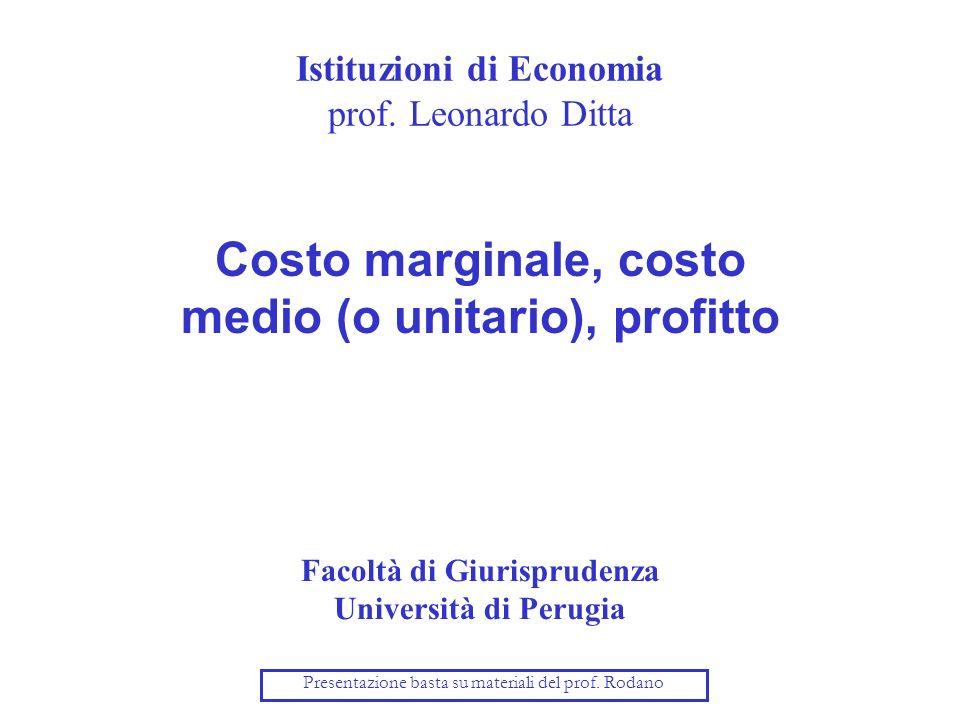 Istituzioni di Economia prof.
