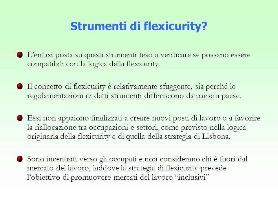 Strumenti di flexicurity.