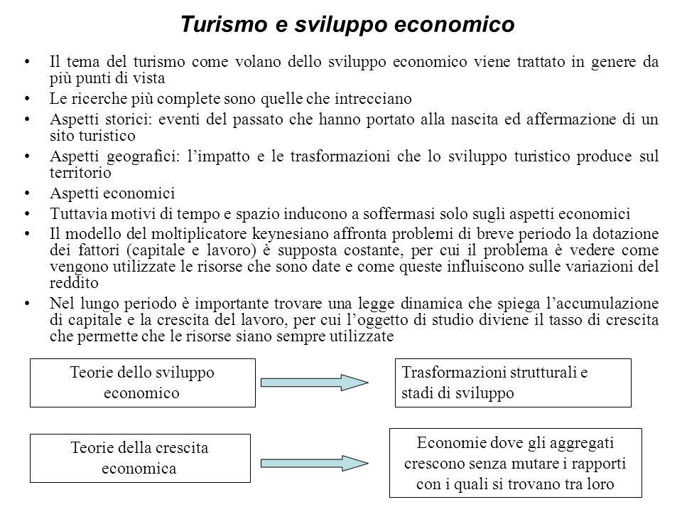 Turismo e sviluppo economico Il tema del turismo come volano dello sviluppo economico viene trattato in genere da più punti di vista Le ricerche più c