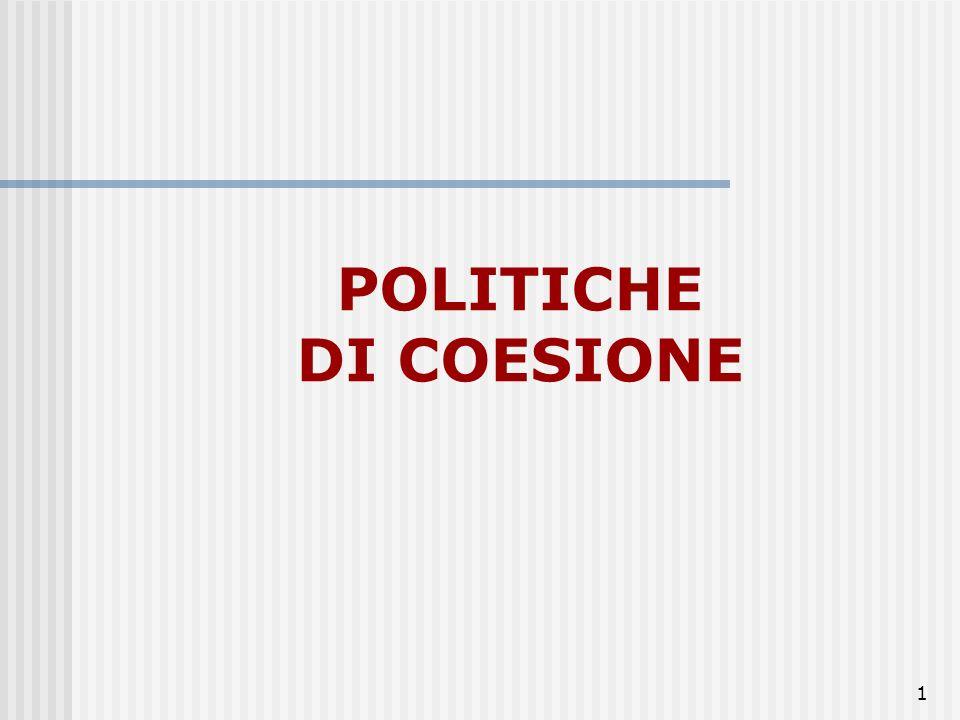 81 Luglio 2004 la Commissione ha presentato una proposta di riforma della politica regionale da attuarsi per la programmazione 2007-2013 viene poi consolidata a luglio 2006 attraverso nuovi regolamenti.