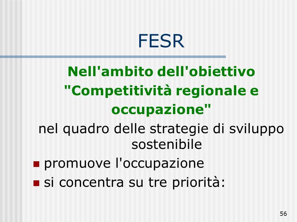 55 In particolare prevede azioni volte a: R&ST; società dell'informazione; iniziative locali per lo sviluppo e supporto alle infrastrutture che fornis
