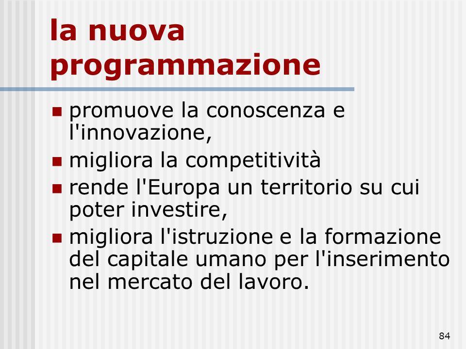 83 La riforma rafforza la coesione economica e sociale, Nasce e si sviluppa in linea con le priorità individuate nelle agende di Lisbona del 2000 e di