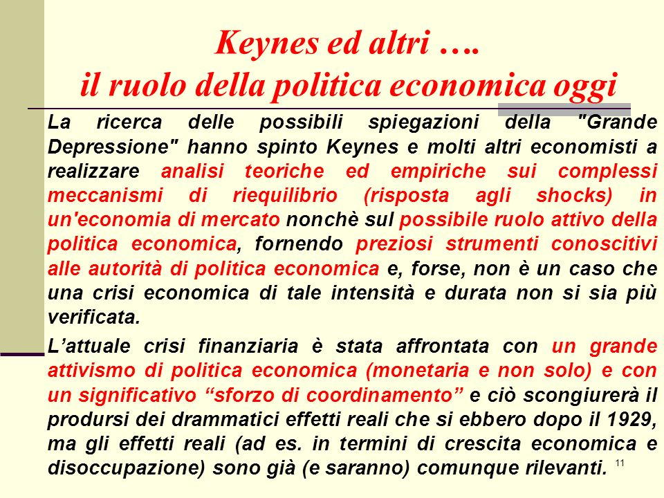 11 Keynes ed altri ….
