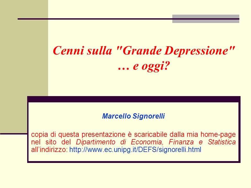 13 Grazie per lattenzione copia di questa presentazione è scaricabile dalla mia home-page nel sito del Dipartimento di Economia, Finanza e Statistica allindirizzo: http://www.ec.unipg.it/DEFS/signorelli.html