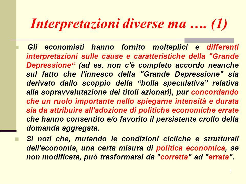 9 Interpretazioni diverse ….