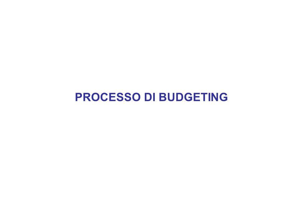 PROCESSO DI BUDGETING