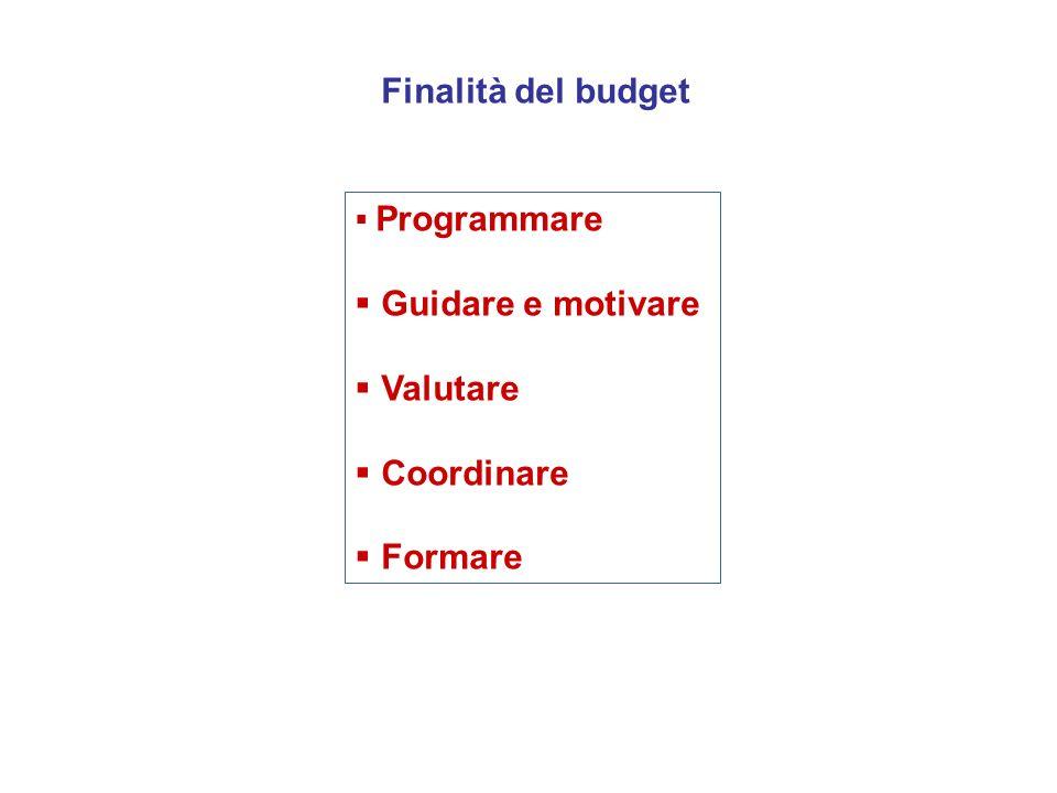 Programmare Guidare e motivare Valutare Coordinare Formare Finalità del budget