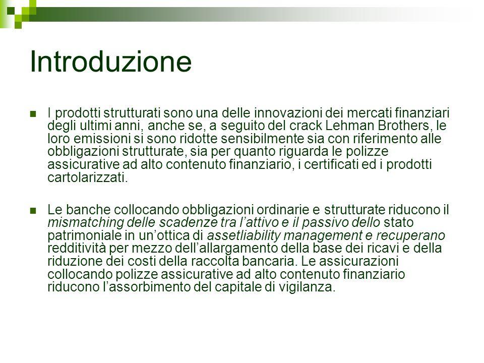 Introduzione I prodotti strutturati sono una delle innovazioni dei mercati finanziari degli ultimi anni, anche se, a seguito del crack Lehman Brothers