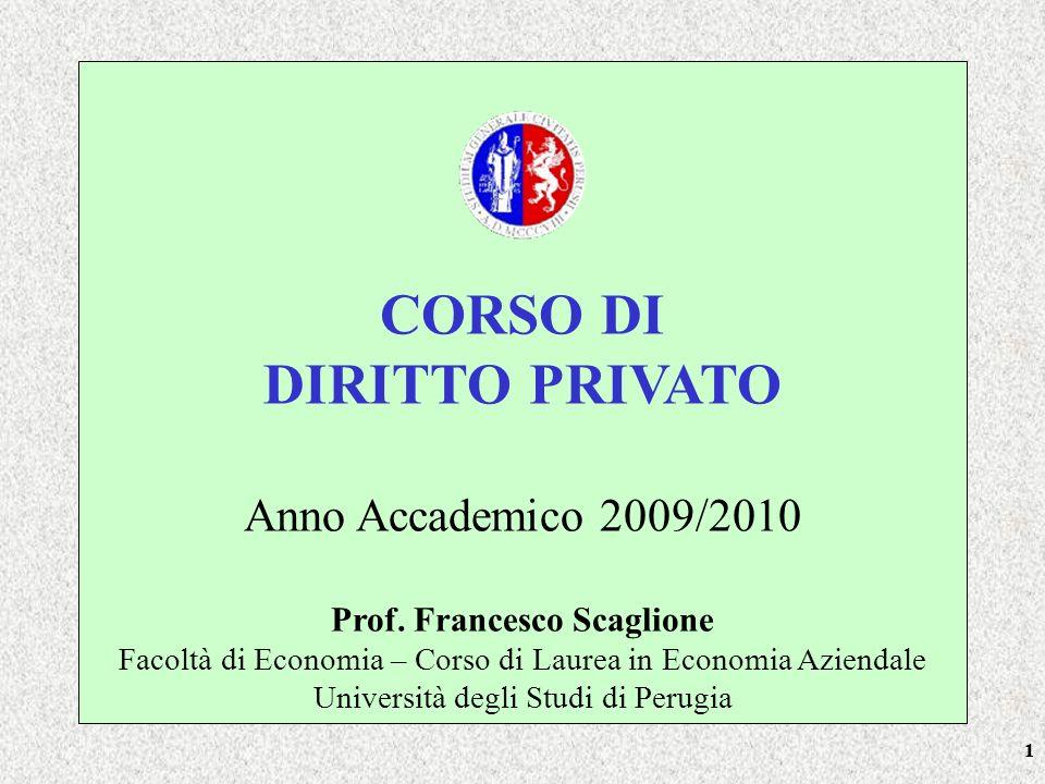 22 TESTI Corso di ISTITUZIONI DI DIRITTO PRIVATO di Massimo Paradiso, Giappichelli (ultima edizione) Codice Civile (edizione 2010)