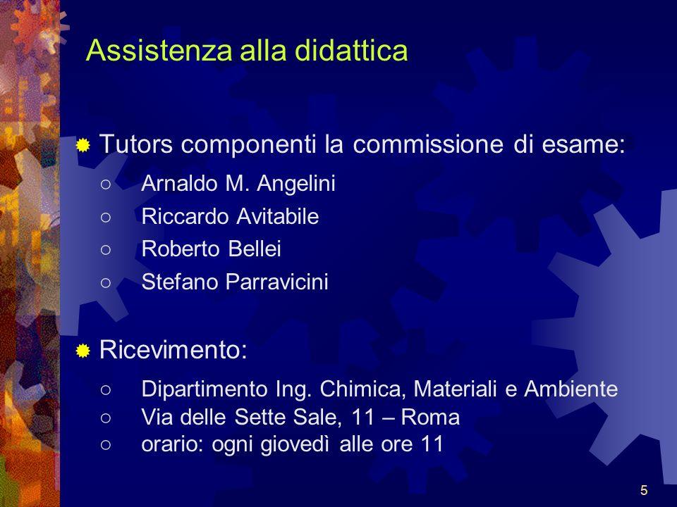 555 Assistenza alla didattica Tutors componenti la commissione di esame: Arnaldo M.