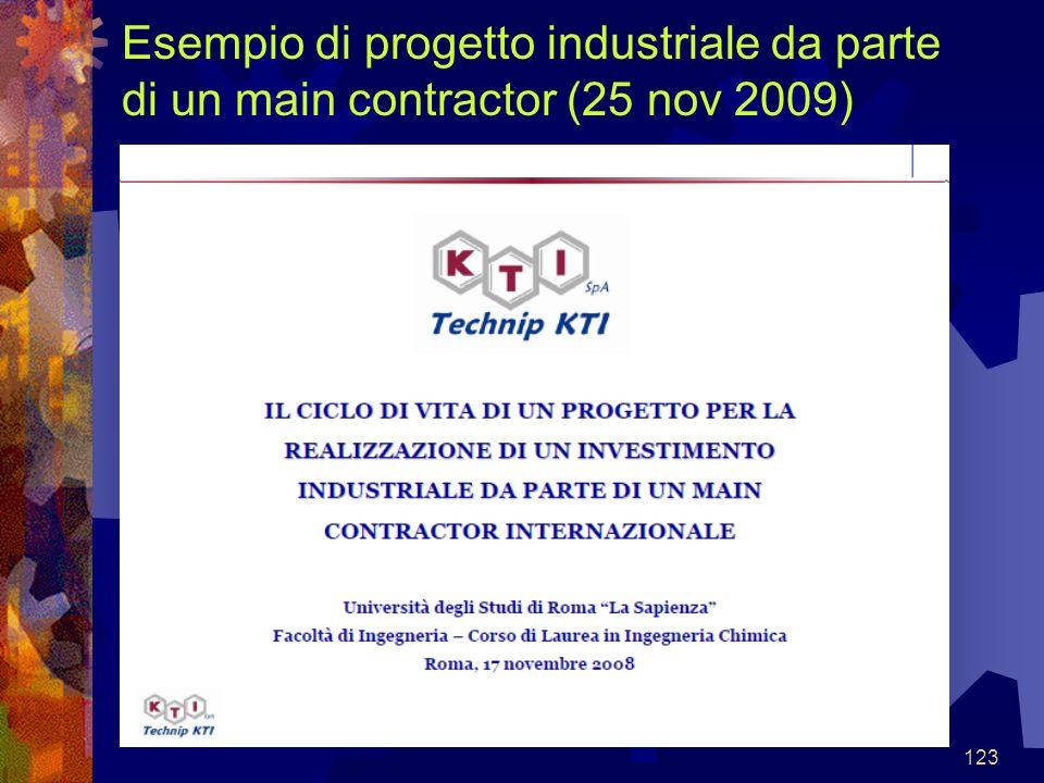 123 Esempio di progetto industriale da parte di un main contractor (25 nov 2009)