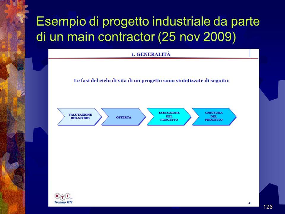 126 Esempio di progetto industriale da parte di un main contractor (25 nov 2009)