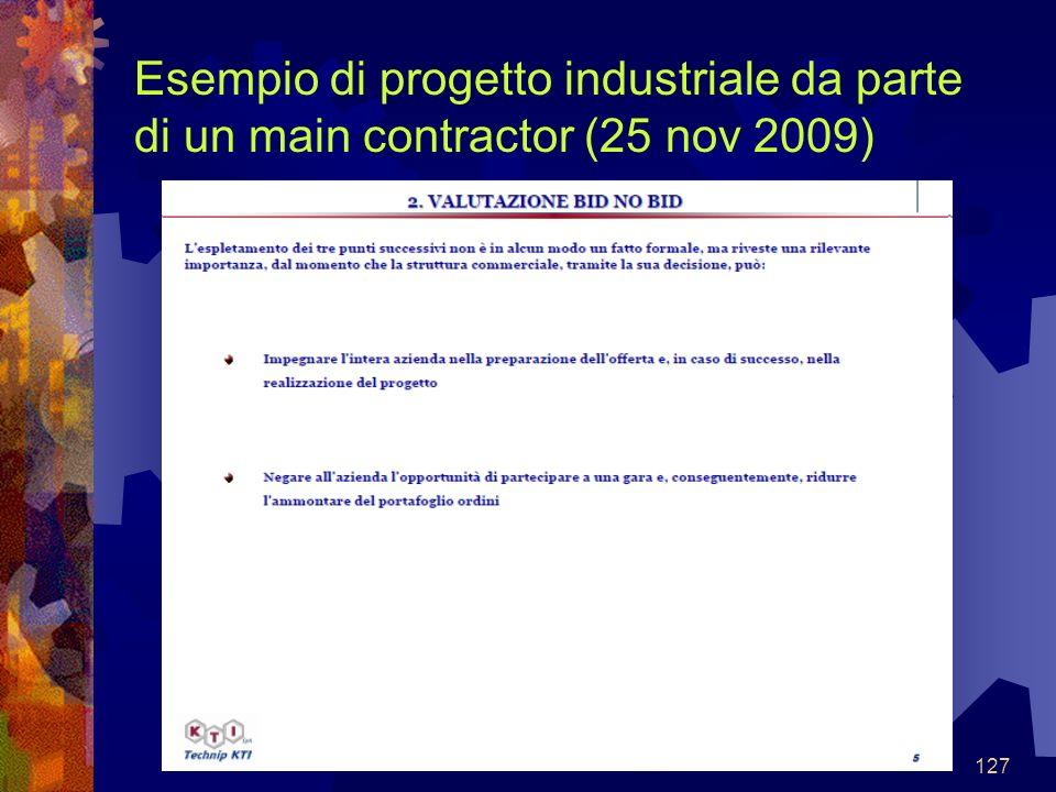 127 Esempio di progetto industriale da parte di un main contractor (25 nov 2009)