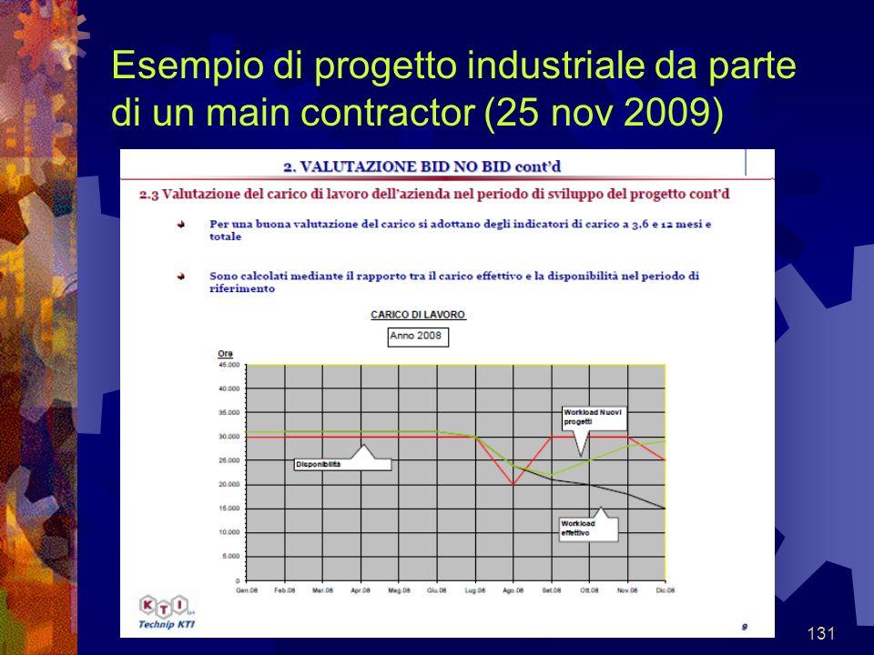 131 Esempio di progetto industriale da parte di un main contractor (25 nov 2009)