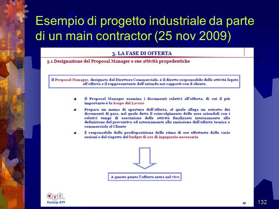 132 Esempio di progetto industriale da parte di un main contractor (25 nov 2009)