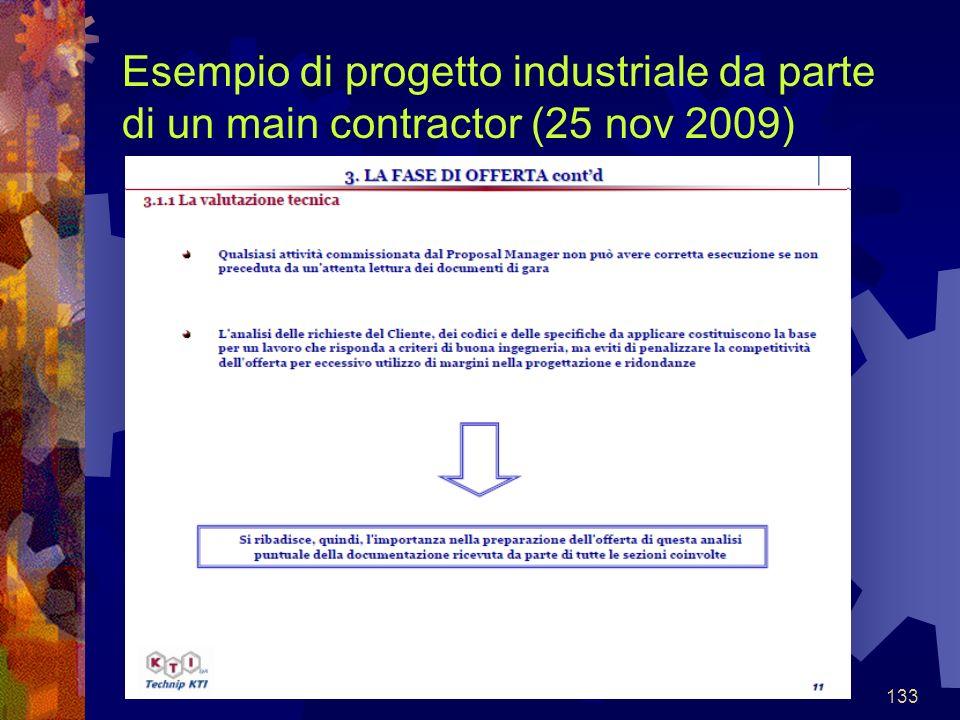 133 Esempio di progetto industriale da parte di un main contractor (25 nov 2009)