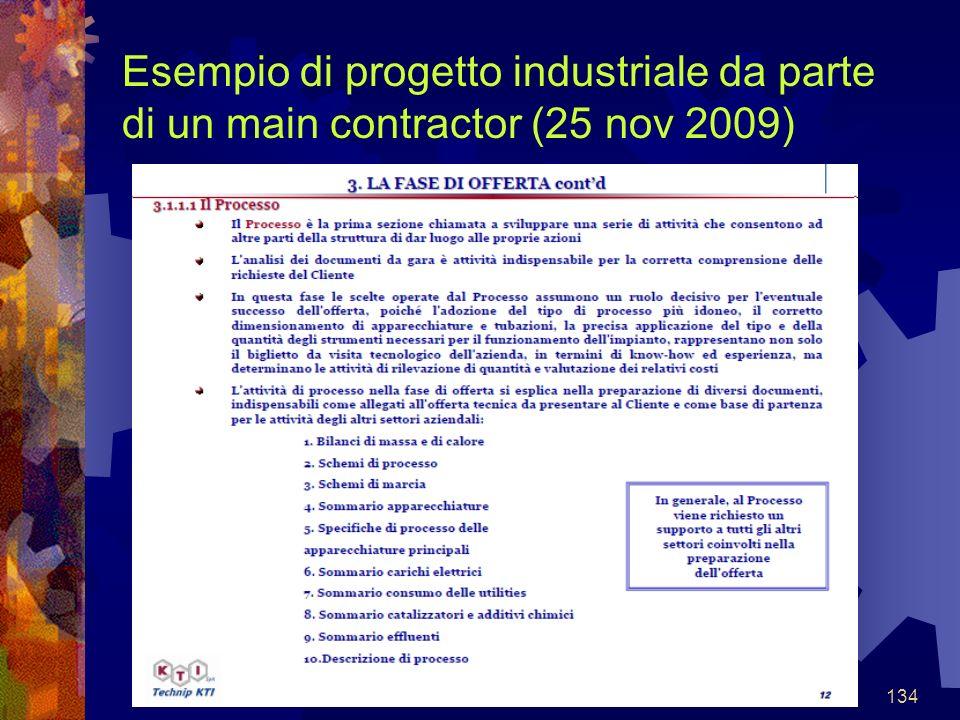 134 Esempio di progetto industriale da parte di un main contractor (25 nov 2009)
