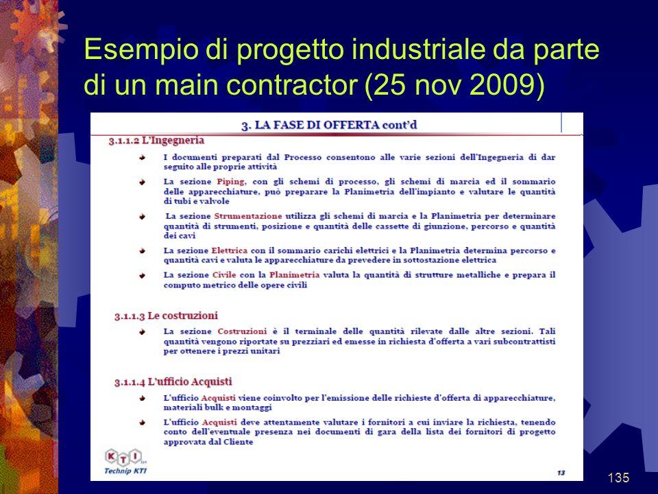 135 Esempio di progetto industriale da parte di un main contractor (25 nov 2009)