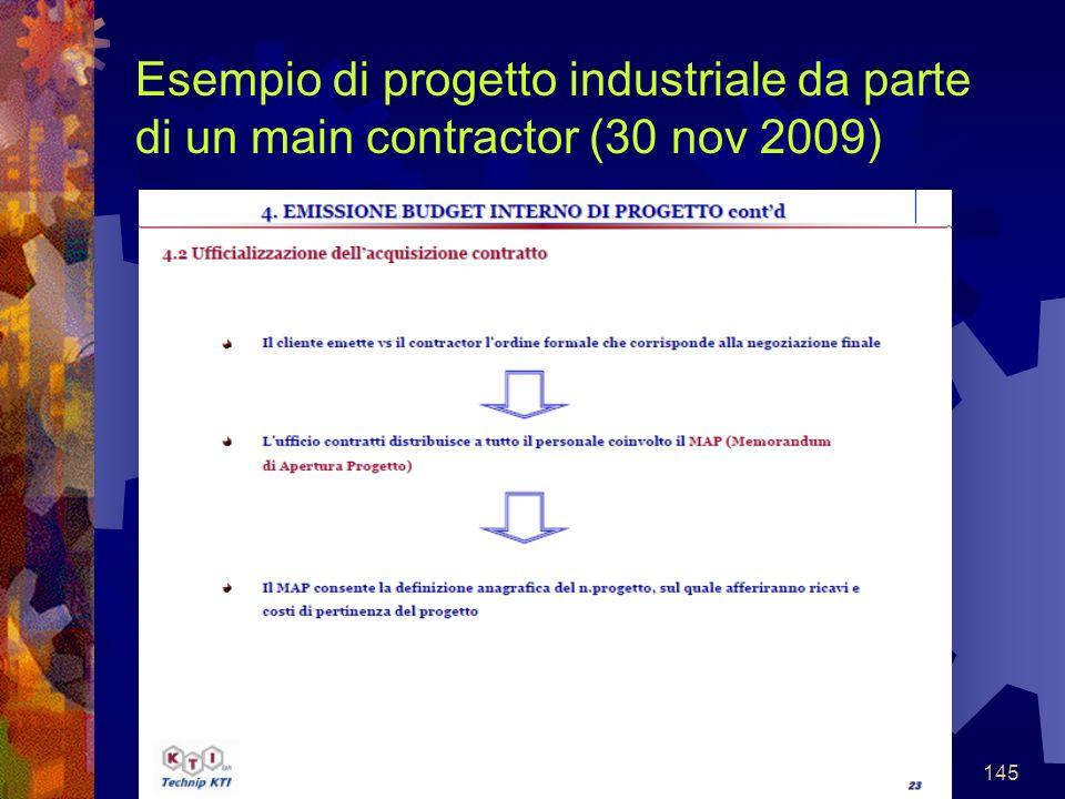 145 Esempio di progetto industriale da parte di un main contractor (30 nov 2009)