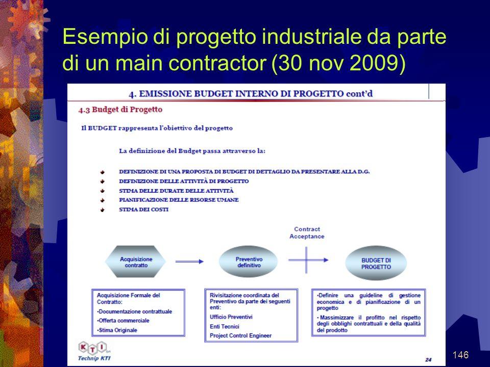 146 Esempio di progetto industriale da parte di un main contractor (30 nov 2009)
