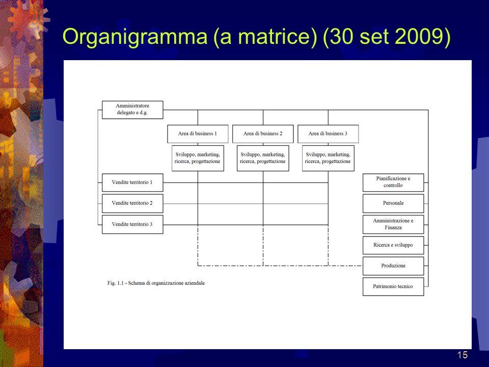 15 Organigramma (a matrice) (30 set 2009)
