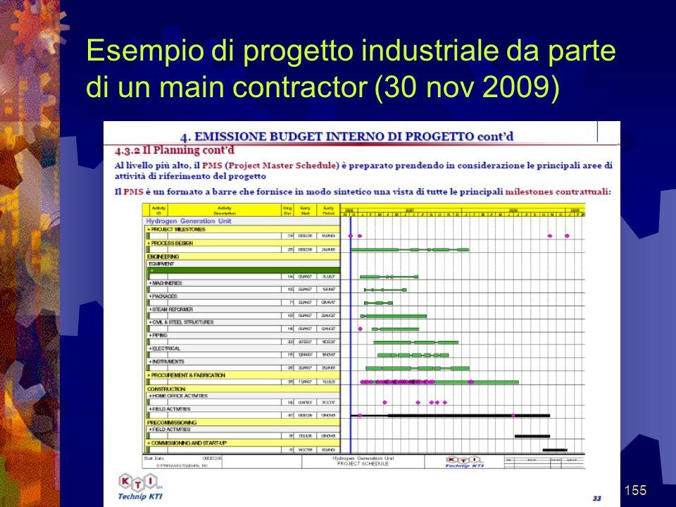 155 Esempio di progetto industriale da parte di un main contractor (30 nov 2009)