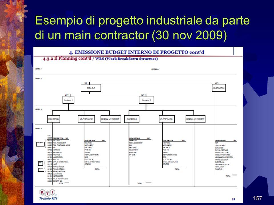 157 Esempio di progetto industriale da parte di un main contractor (30 nov 2009)