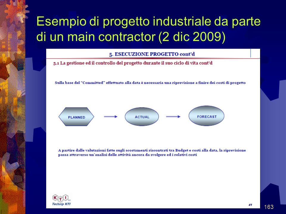 163 Esempio di progetto industriale da parte di un main contractor (2 dic 2009)