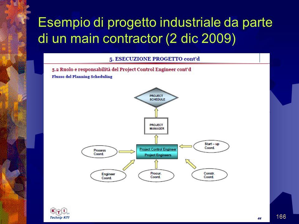166 Esempio di progetto industriale da parte di un main contractor (2 dic 2009)