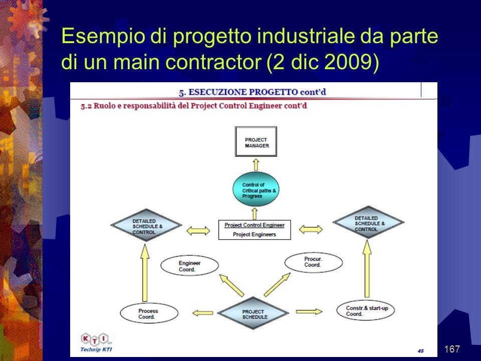 167 Esempio di progetto industriale da parte di un main contractor (2 dic 2009)