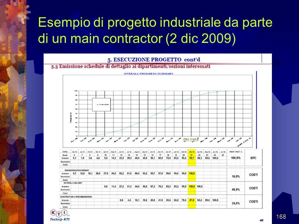 168 Esempio di progetto industriale da parte di un main contractor (2 dic 2009)
