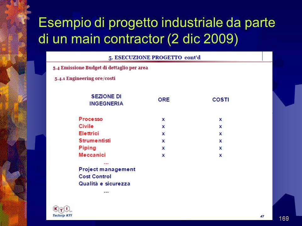 169 Esempio di progetto industriale da parte di un main contractor (2 dic 2009)