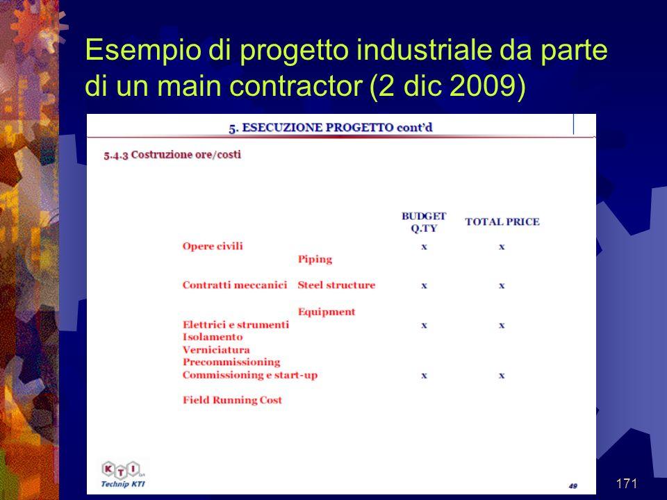 171 Esempio di progetto industriale da parte di un main contractor (2 dic 2009)