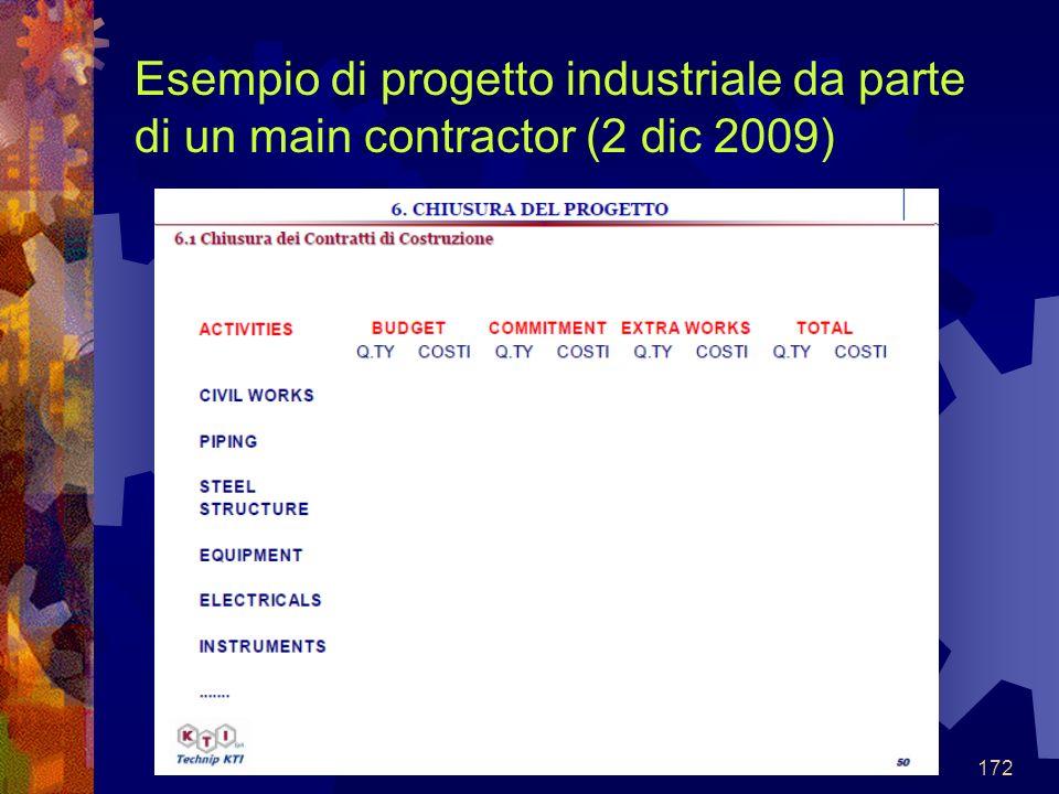 172 Esempio di progetto industriale da parte di un main contractor (2 dic 2009)