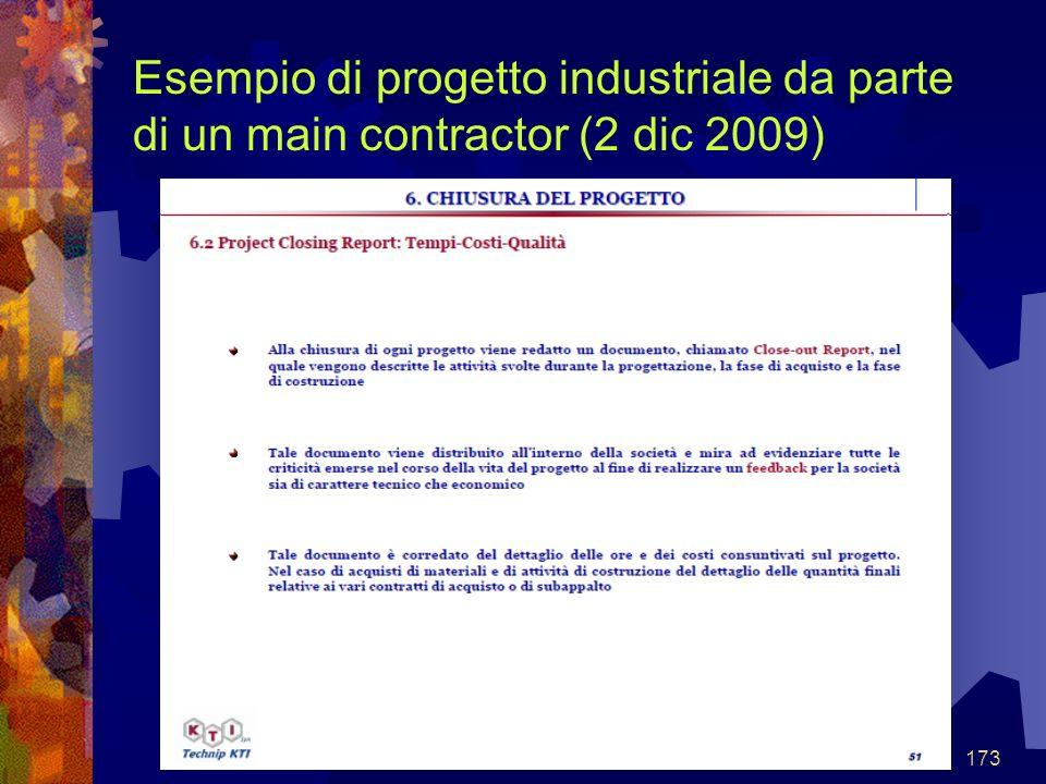 173 Esempio di progetto industriale da parte di un main contractor (2 dic 2009)
