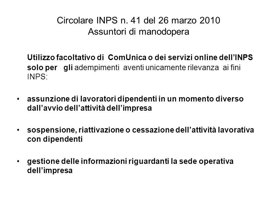 Circolare INPS n.
