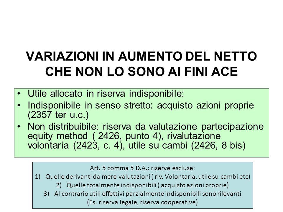 1)Operazione antielusive art.10 D.A. Es.